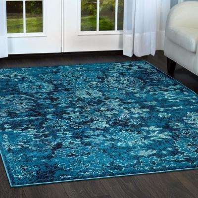 Patio Starlight Navy Blue 7 ft. 9 in. x 10 ft. 2 in. Indoor/Outdoor Area Rug