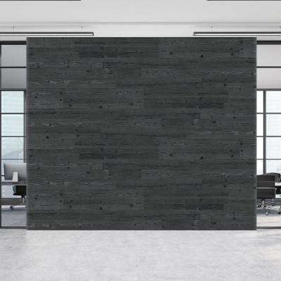 3/16 in. x 5-1/8 in. x 46-1/2 in. Espresso Brown Pine Wood Plank Self-Adhesive