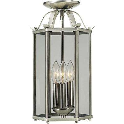 3-Light Brushed Nickel Interior Pendant