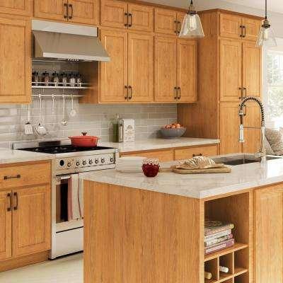 Madison Assembled 36x34.5x24 in. Sink Base Cabinet in Warm Oak