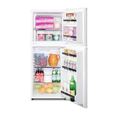 4.6 cu. ft. Top Freezer Refrigerator in White, Counter Depth