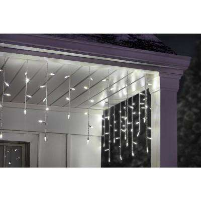 200-Light Mini Smooth Warm White Ultra Bright LED Icicle Light