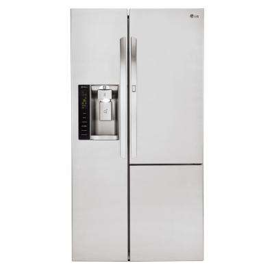 26.1 cu. ft. Side-by-Side Refrigerator with Door-in-Door in Stainless Steel