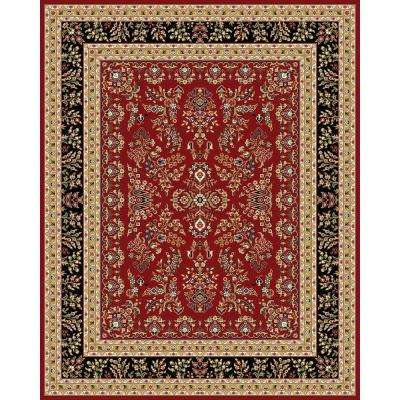 Lyndhurst Red/Black 8 ft. 11 in. x 12 ft. RECTANGLE Area Rug