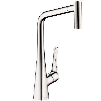 Metris Single-Handle Pull-Out Sprayer Kitchen Faucet in Chrome