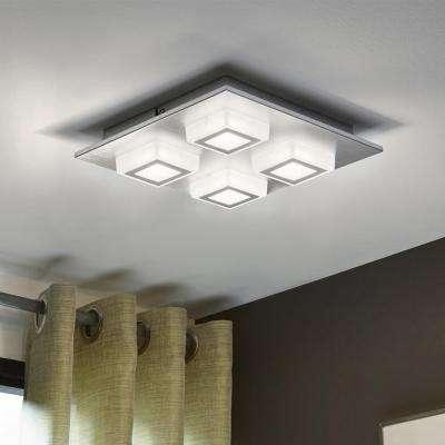 Masiano 4-Light Brushed Aluminum Integrated LED Ceiling/Wall Light