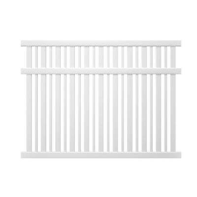 Pro-Series 6 ft. H x 8 ft. W Vinyl Lafayette Spaced Picket Fence Panel