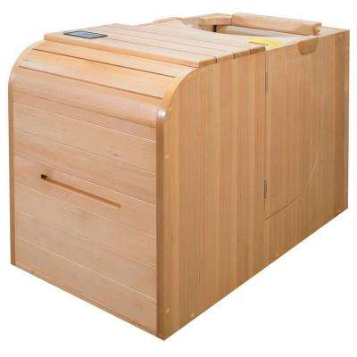 1-Person Full Spectrum Infrared Sauna with Plug and Play Electric Operation