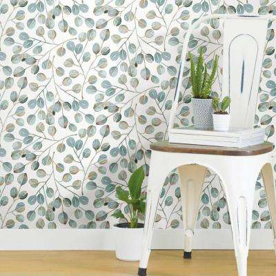 28.29 sq. ft. Cat Coquillette Eucalyptus Peel and Stick Wallpaper