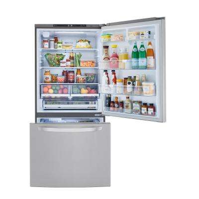 25.50 cu. ft. Bottom Freezer Refrigerator in PrintProof Stainless Steel with Filtered Ice