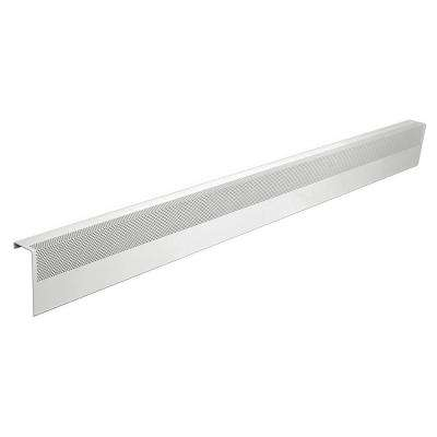 Basic Series 6 ft. Galvanized Steel Easy Slip-On Baseboard Heater Cover in White