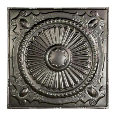 Toronto 2 ft. x 2 ft. Nail-up Tin Ceiling Tile in Argento