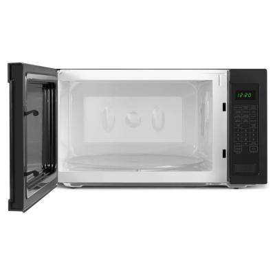2.2 cu. ft. Countertop Microwave in Black with Add: 30 Seconds Option