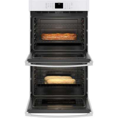 30 in. Smart Double Electric Wall Oven Self-Cleaning with Steam in White