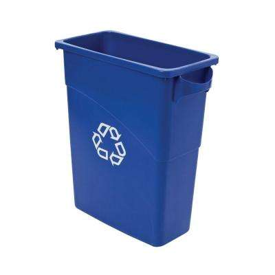 Slim Jim 15-7/8 Gal. Blue Recycling Container