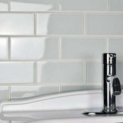 Tessera Subway Ice White 3 in. x 6 in. Glass Wall Tile (1 sq. ft. / pack)