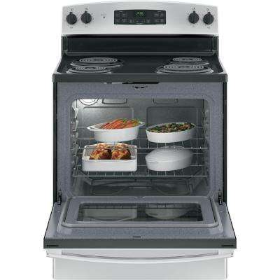 30 in. 5.0 cu. ft. Free-Standing Electric Range with Self-Clean Oven in Stainless Steel