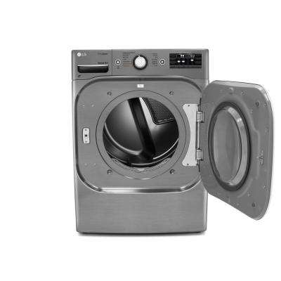 9.0 cu. ft. Electric Dryer with True Steam in Graphite Steel