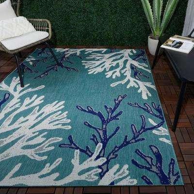 Blue Reef 5 ft. x 7 ft. Indoor/Outdoor Area Rug