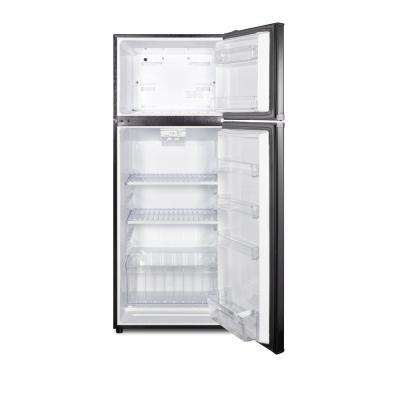 10.3 cu. ft. Frost Free Upright Top Freezer Refrigerator in Black, ENERGY STAR
