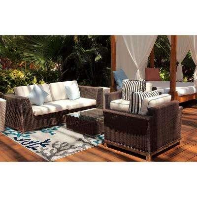 Patio Brights Kiawah Turquoise 5 ft. x 7 ft. Indoor/Outdoor Area Rug