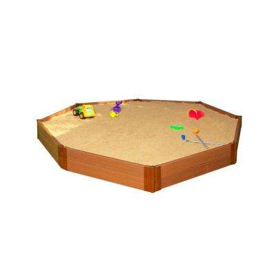 Two Inch Series 10 ft. x 10 ft. x 11 in. Composite Octagon Sandbox Kit