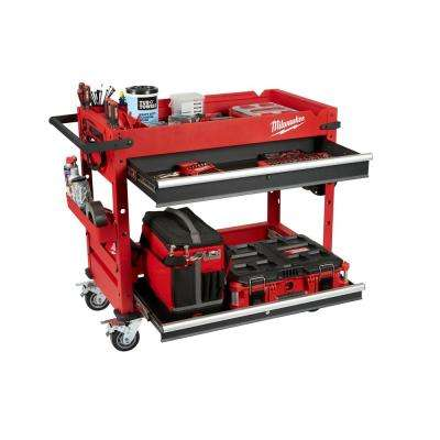 40 in. 2-Drawer Steel Work Cart
