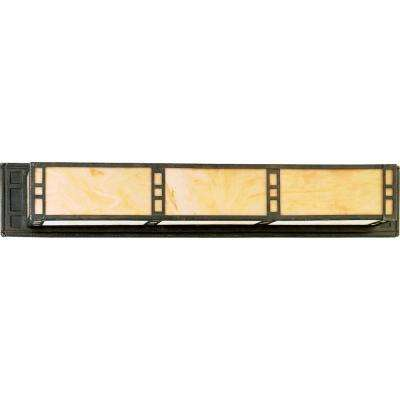 Arts and Crafts Collection 3-Light Weathered Bronze Vanity Fixture