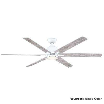 Kensgrove 64 in. LED White Ceiling Fan with Remote Control