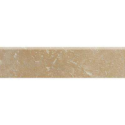 Sandalo Acacia Beige 3 in. x 12 in. Ceramic Bullnose Wall and Floor Tile