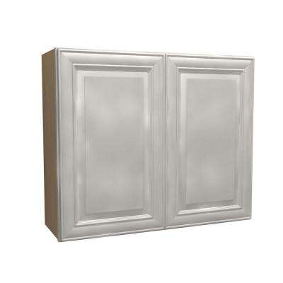 30x30x12 in. Brookfield Assembled Wall Cabinet with 2 Doors in Pacific White