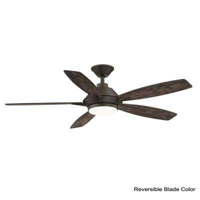 Wilmington 52 in. LED Espresso Bronze Ceiling Fan with Light