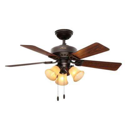 Beacon Hill 42 in. Indoor New Bronze Ceiling Fan with Light