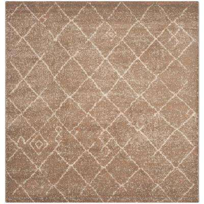 Tunisia Brown 6 ft. x 6 ft. Square Area Rug