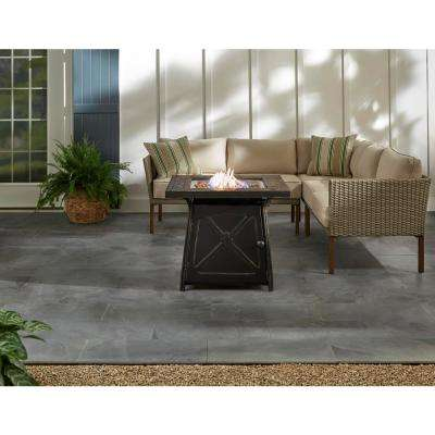 Crossridge 50,000 BTU Antique Bronze Finish Gas Fire Pit