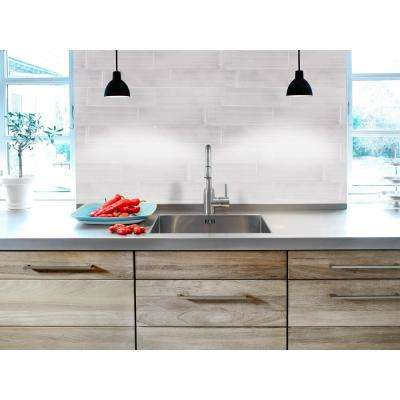 Moonlight Gray 6 in. x 20 in. Glossy Ceramic Wall Tile (10.76 sq. ft. / case)