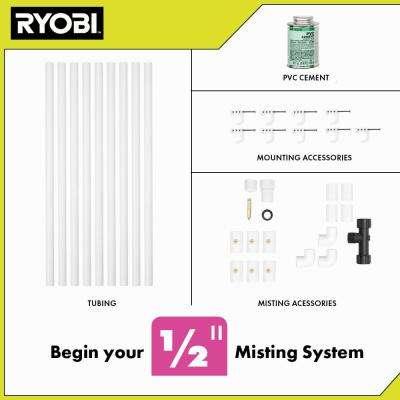 1/2 in. x 12 ft. Professional PVC Misting Kit