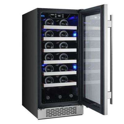 27-Bottle 15 in. Built-in Wine Cooler with Argon Filled Double Paned Glass