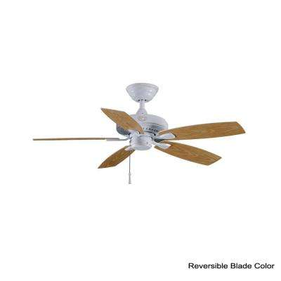Gazebo II 42 in. Indoor/Outdoor White Ceiling Fan