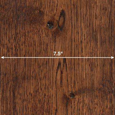 Wire Brushed Gunstock Oak 3/8 in. x 7-1/2 in. Wide x 74-3/4 in. Length Click Lock Hardwood Flooring (30.92 sq. ft./case)