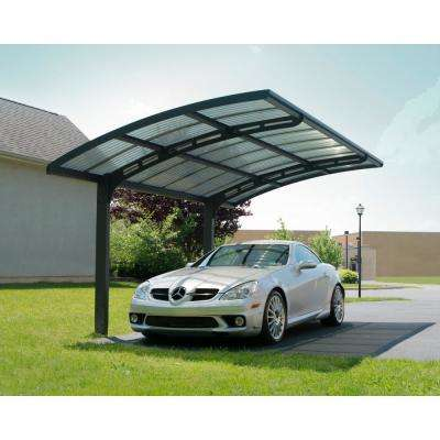 Arizona 5000 Wave 9 ft. 6 in. x 16 ft. 3 in. x 9 ft. H Carport with Corrugated Solar Gray Polycarbonate Roof Panels