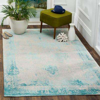 Classic Vintage Turquoise 8 ft. x 11 ft. Area Rug