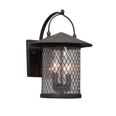 Altamont 2-Light French Iron Outdoor Wall Mount Sconce