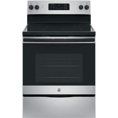 30 in. Free-Standing Electric Range in Silver