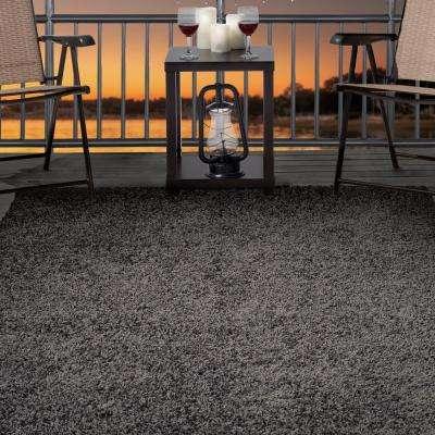 Shag Charcoal 5 ft. x 8 ft. Indoor/Outdoor Area Rug