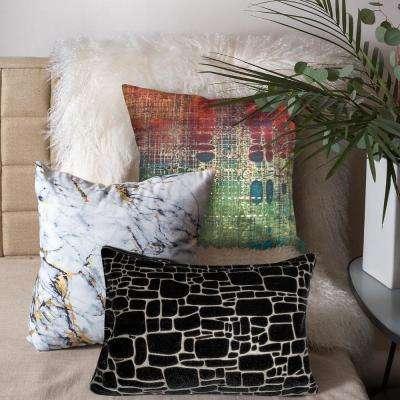 Precious Metals Graphic Polyester Throw Pillow