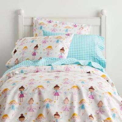 Good Fairies 200-Thread Count Cotton Percale Duvet Cover