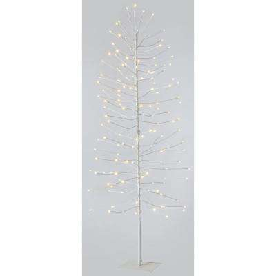5 ft. Pre-Lit LED White Lighted Artificial Christmas Tree