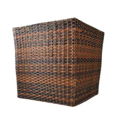 13 in. Square Resin Rattan Planter (Case of 2)