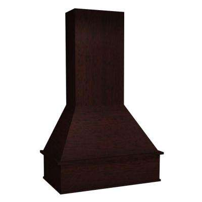 Assembled 23x36x21 in. Franklin Range Hood-Chimney Combo Cabinet with Straight Valance in Manganite Glaze